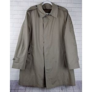 London Fog Trench Coat Thinsulate Zip In Liner